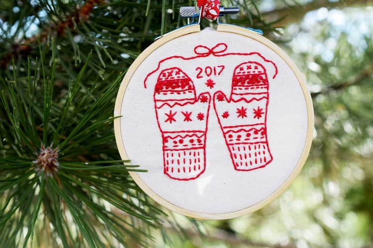 A Free Printable Holiday Embroidery Pattern Great For Stitch