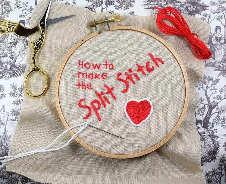 How To Make The Split Stitch An Easy And Useful Beginner Stitch