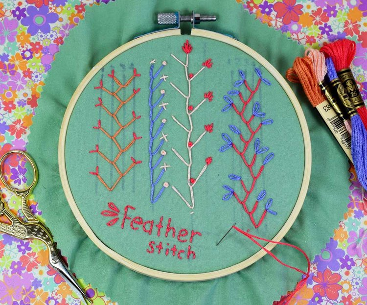 How To Make The Feather Stitch Pam Ash Designs