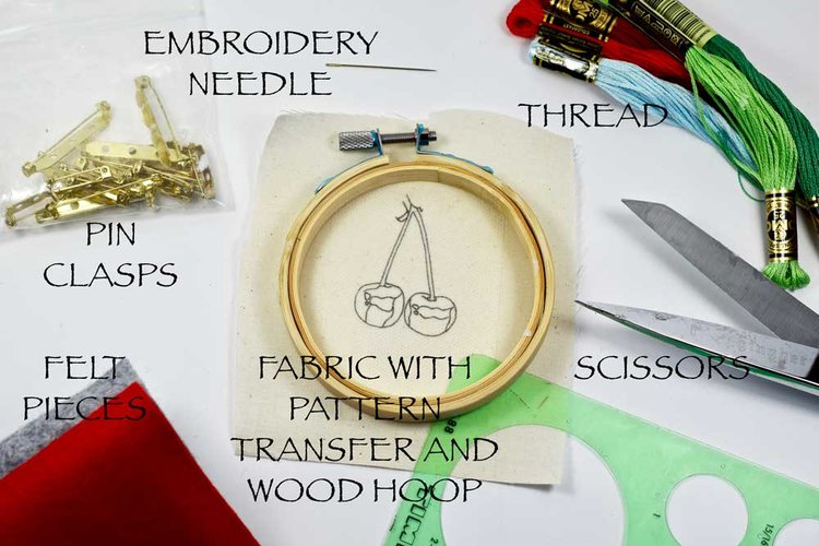 How To Make An Embroidered Pin Embroidery As Wearable Art Pam
