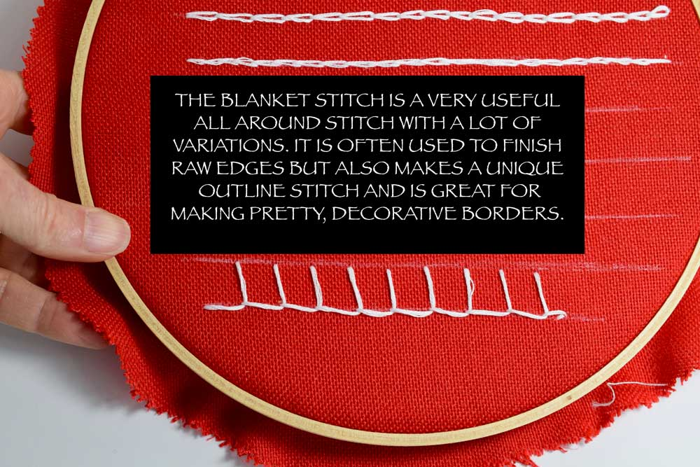 For a more detailed tutorial on how to make a BLANKET STITCH click  HERE .