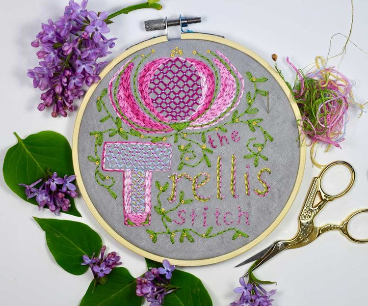 How To Make The Trellis Stitch Pam Ash Designs