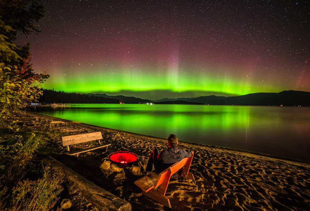 A redemptive moment at Priest Lake in northern Idaho after a year of cancer treatment.