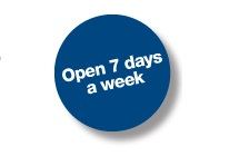 We are open 7 days a week, from 9 am until 5 pm. We can also do work after hours upon request.