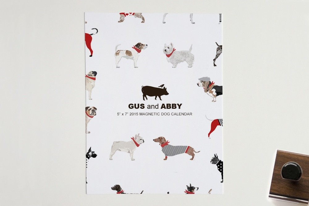 Magnetic Dog Calendar by  Gus and Abby