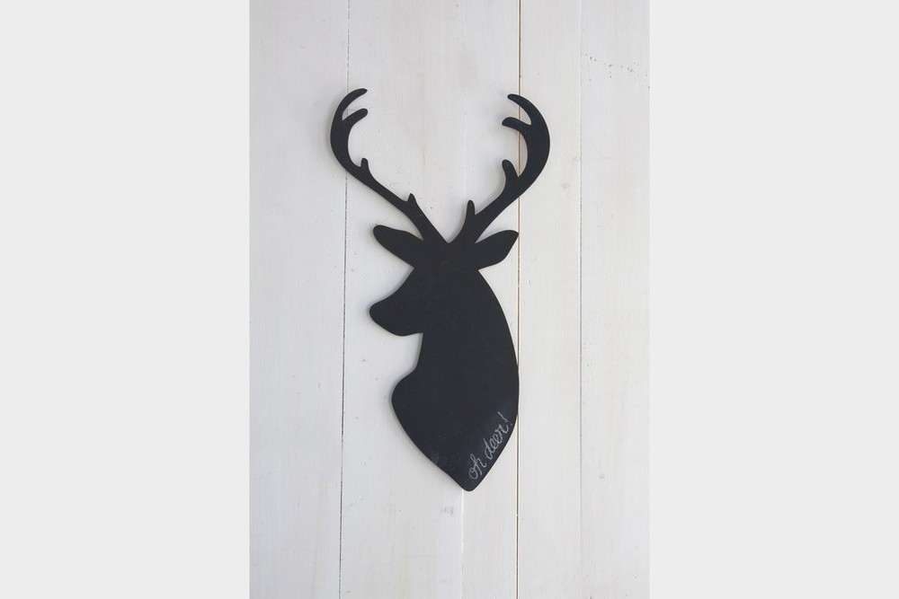 Deer Wooden Chalkboard $22 by  163 Design Company