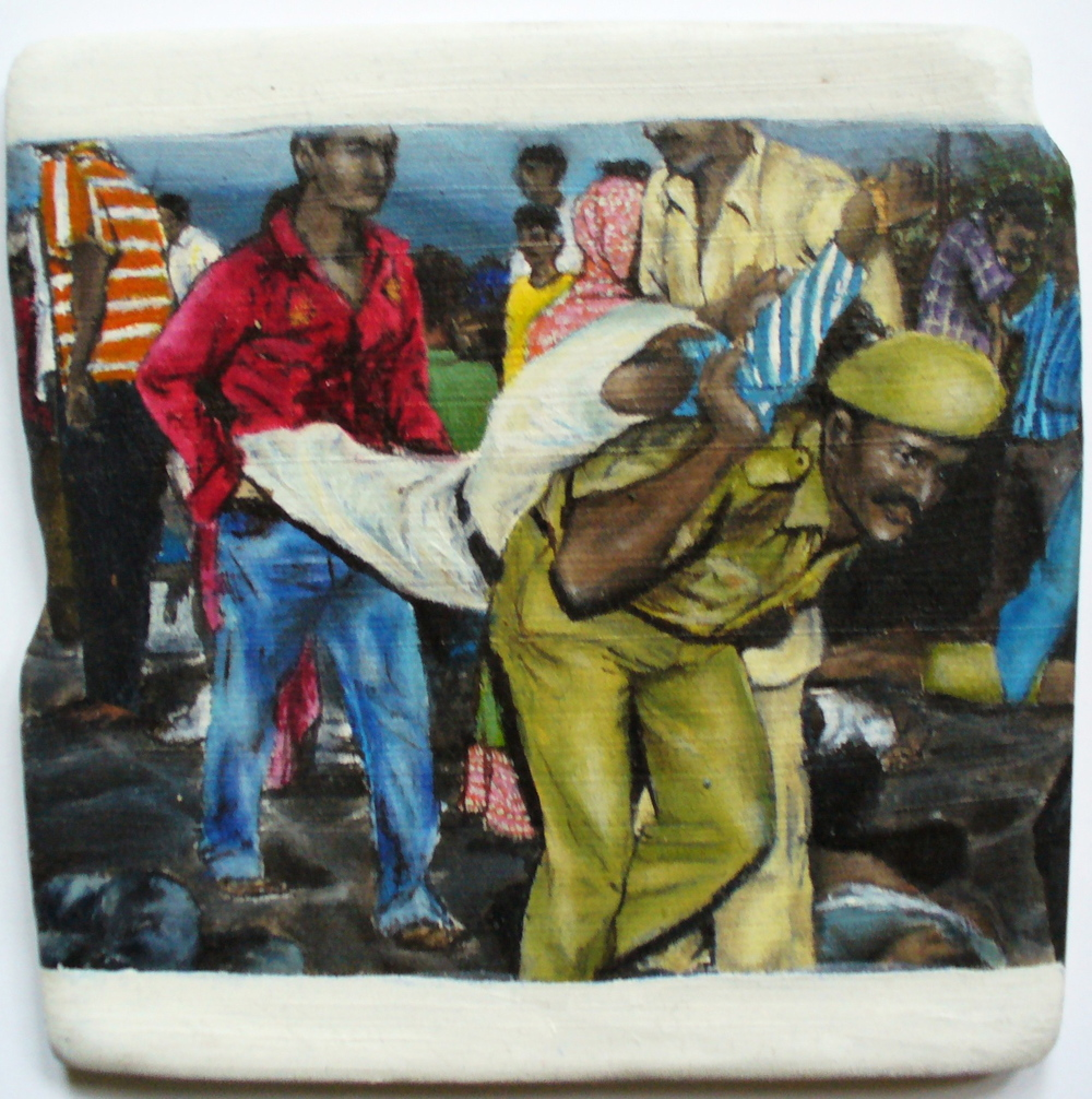 3. 'Pilgrim Route Crush', North India, Oil on ceramic, 10cm x 10cm, Morgan Tipping, 2010. - Copy.JPG