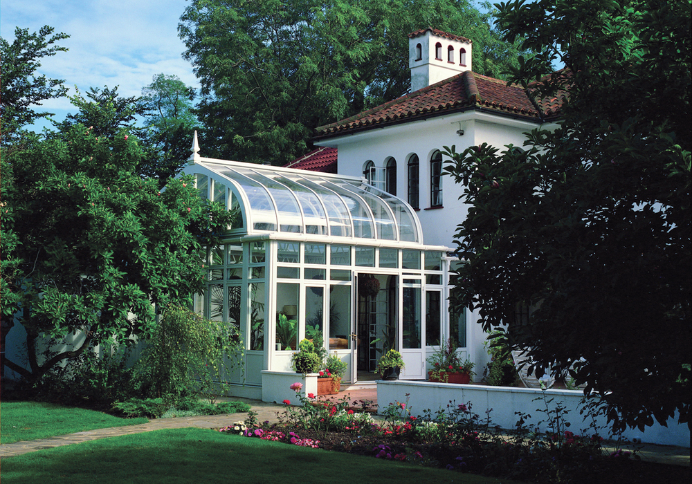 An example of an aluminum conservatory