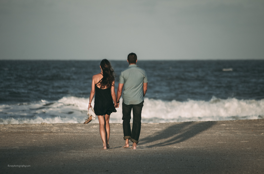 romantic beach walk photo