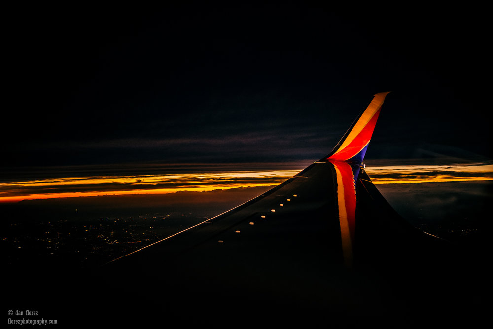 Photo of a Southwest Airlines wing, but when you're sleepy they all look alike.