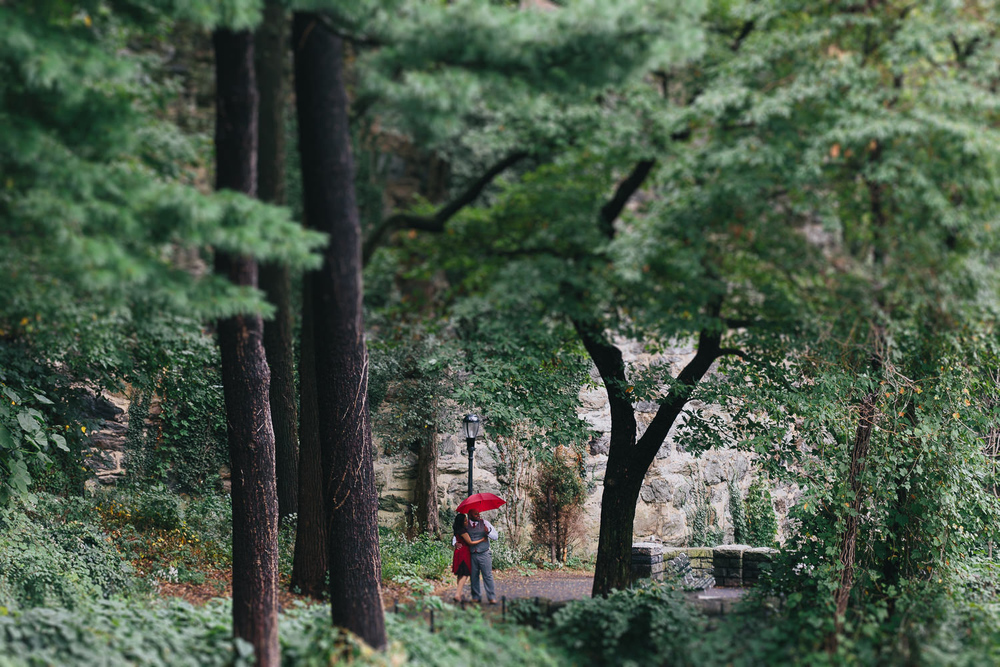 Riya and Tinu Fort Tryon Park NYC Surprise Engagement