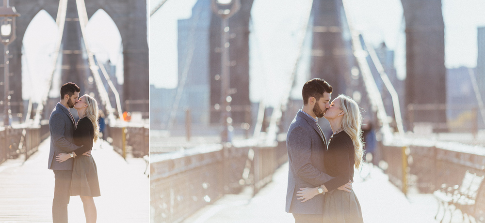 Jenna and Andrew's Cosy Fall Engagement | Brooklyn Bridge. Centr