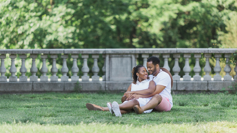 Roshelle & Wayne's Wave Hill Garden Engagement