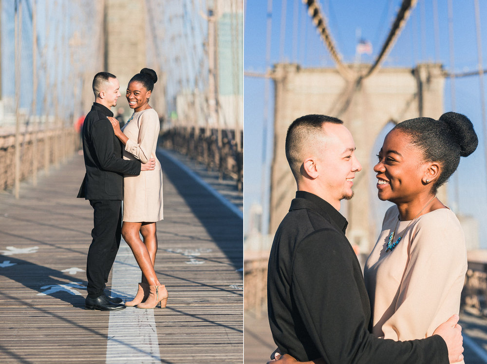Melinda & Mark's Brooklyn Bridge New York City Engagement