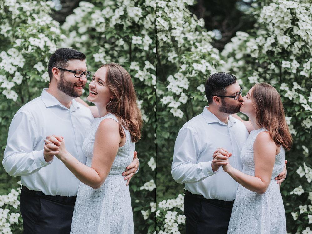 Anna & Don's Sarah Duke Gardens Engagement