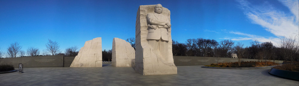 The Dr. Martin Luther King Jr. Memorial in Washington, DC. Photo credit  here .