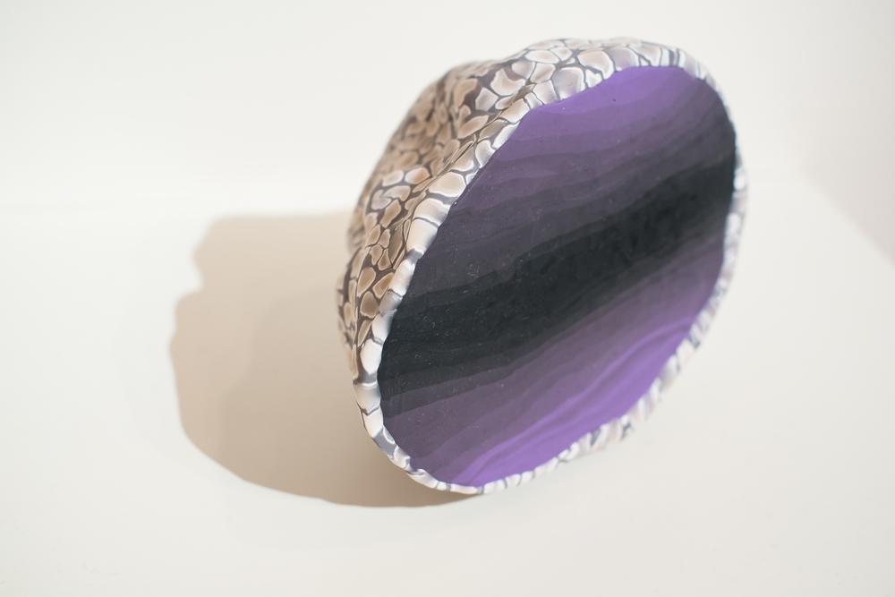 """Serape (purple), 2014  Malena Lopez- Maggi  Polymer clay and Aluminum foil  7"""" x 7"""" x 5"""""""