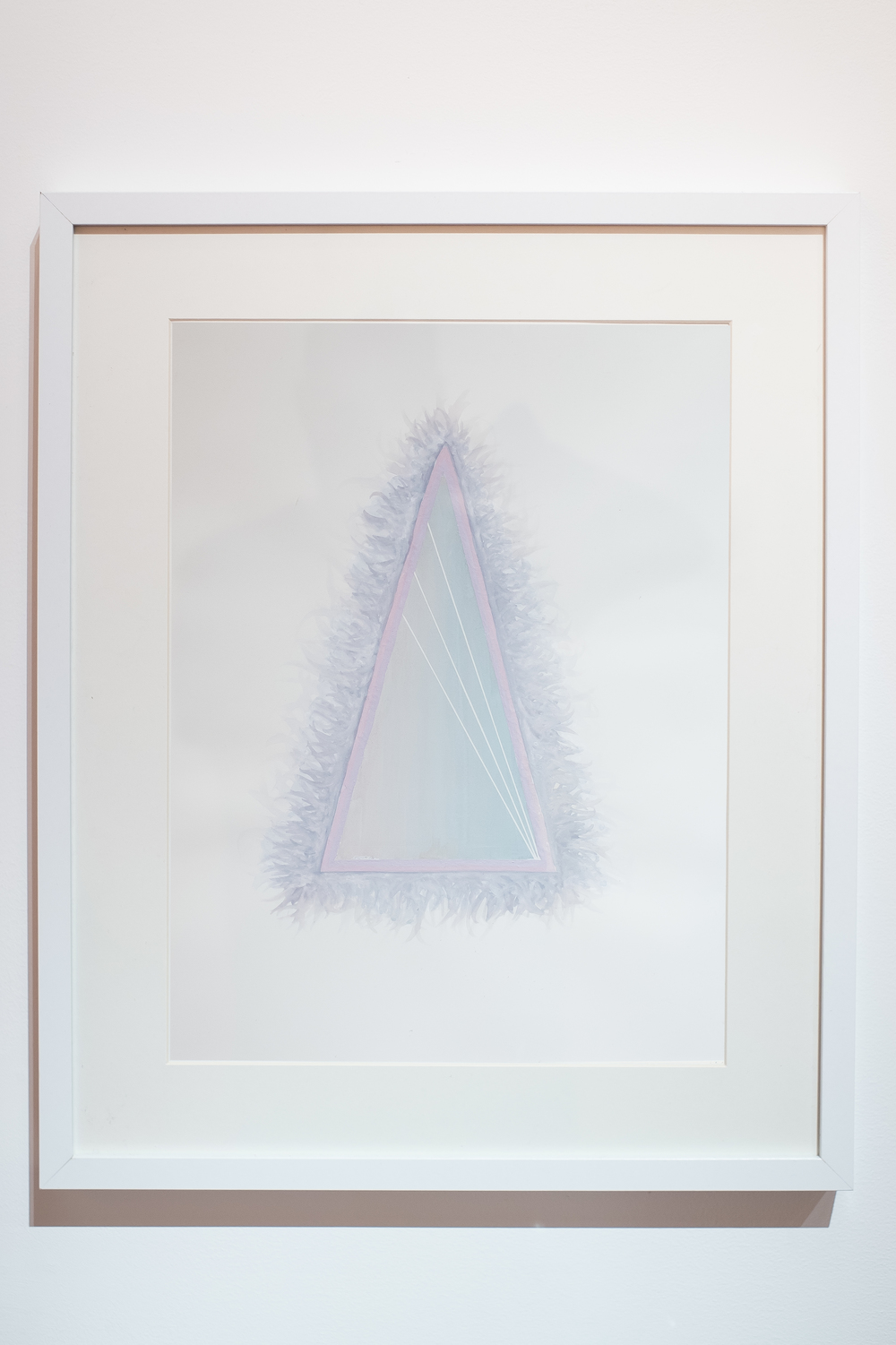 "Hairy Triangle,  2014  Malena Lopez- Maggi  Gouache on Watercolor paper  13"" x 19"""