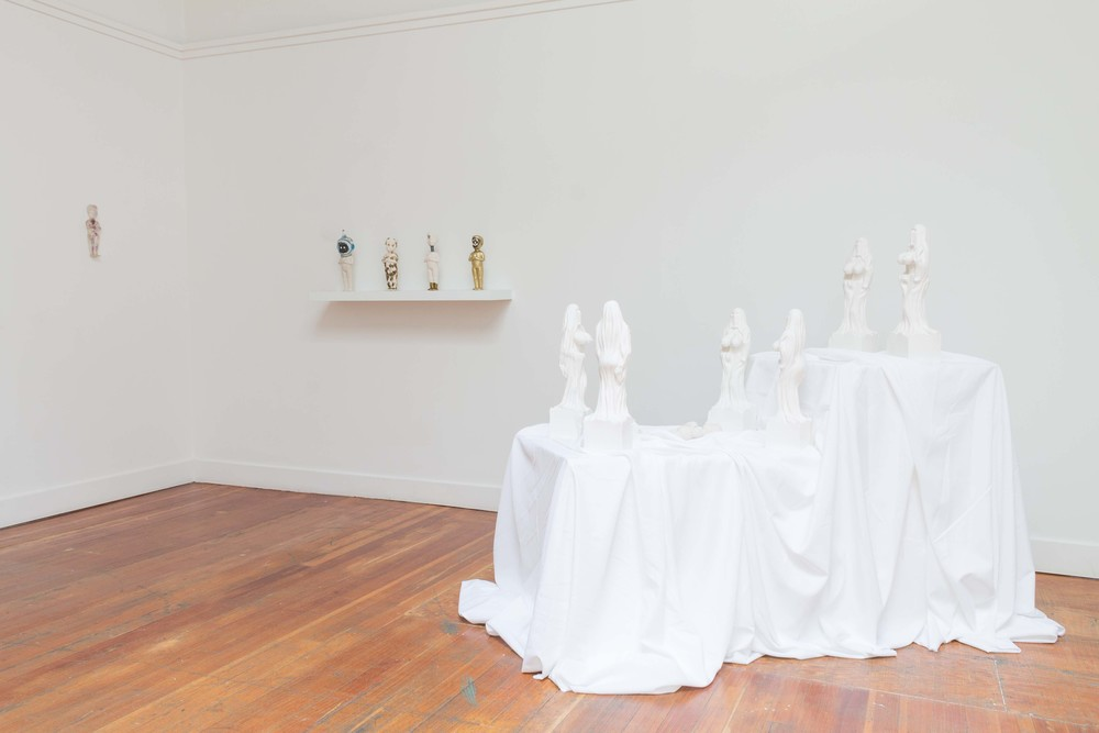 Installation view of  Mullah's Ghost  and  NIÑO X CAMINO