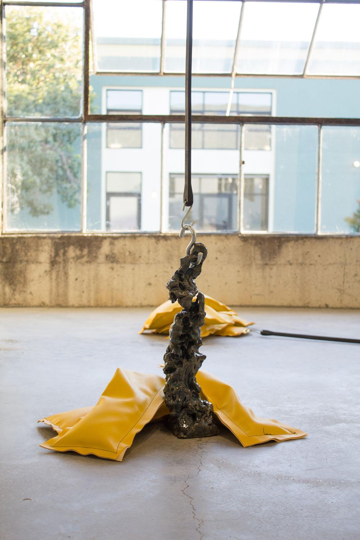 Mie Hørlyck Mogensen,   Optimist (kissing ceramic)  , 2016      Glazed ceramic, vinyl, rubber, sand.