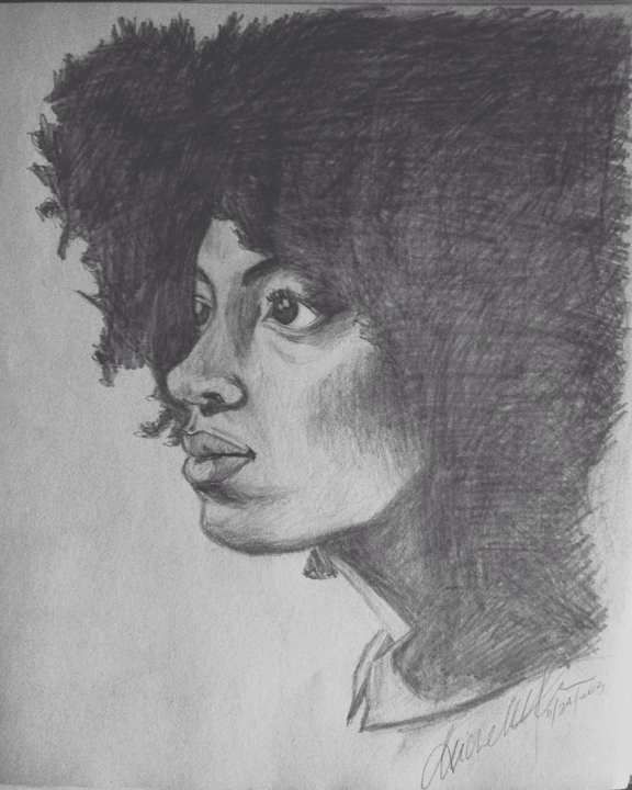 """Solange Sketch""  By Michelle Carr Pencil, 9"" x 11'"