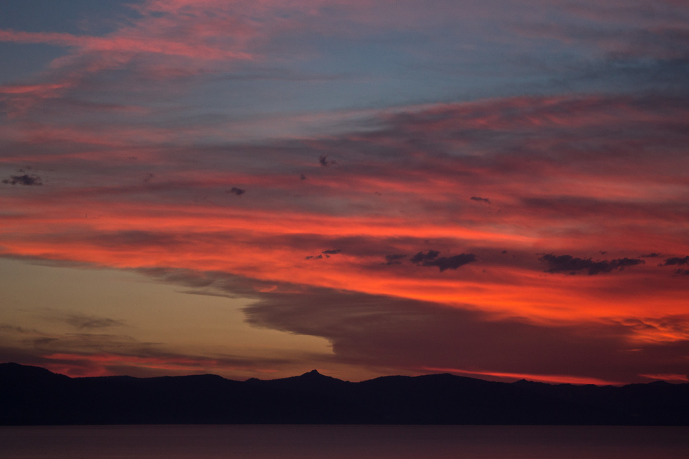 Sunsets in Lake Tahoe
