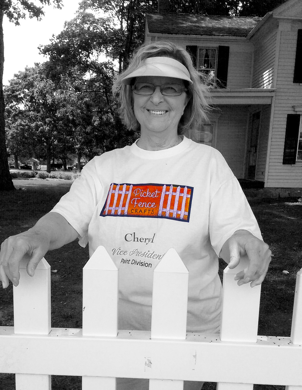 This is my sister, Cheryl.  She handles all the painting that is required for my numerous crafts.  She can paint a salt-dough dog bone lickety-split.  She is a major help for the Picket Fence Crafts endeavor, and she is exceptional in her work and work ethic.