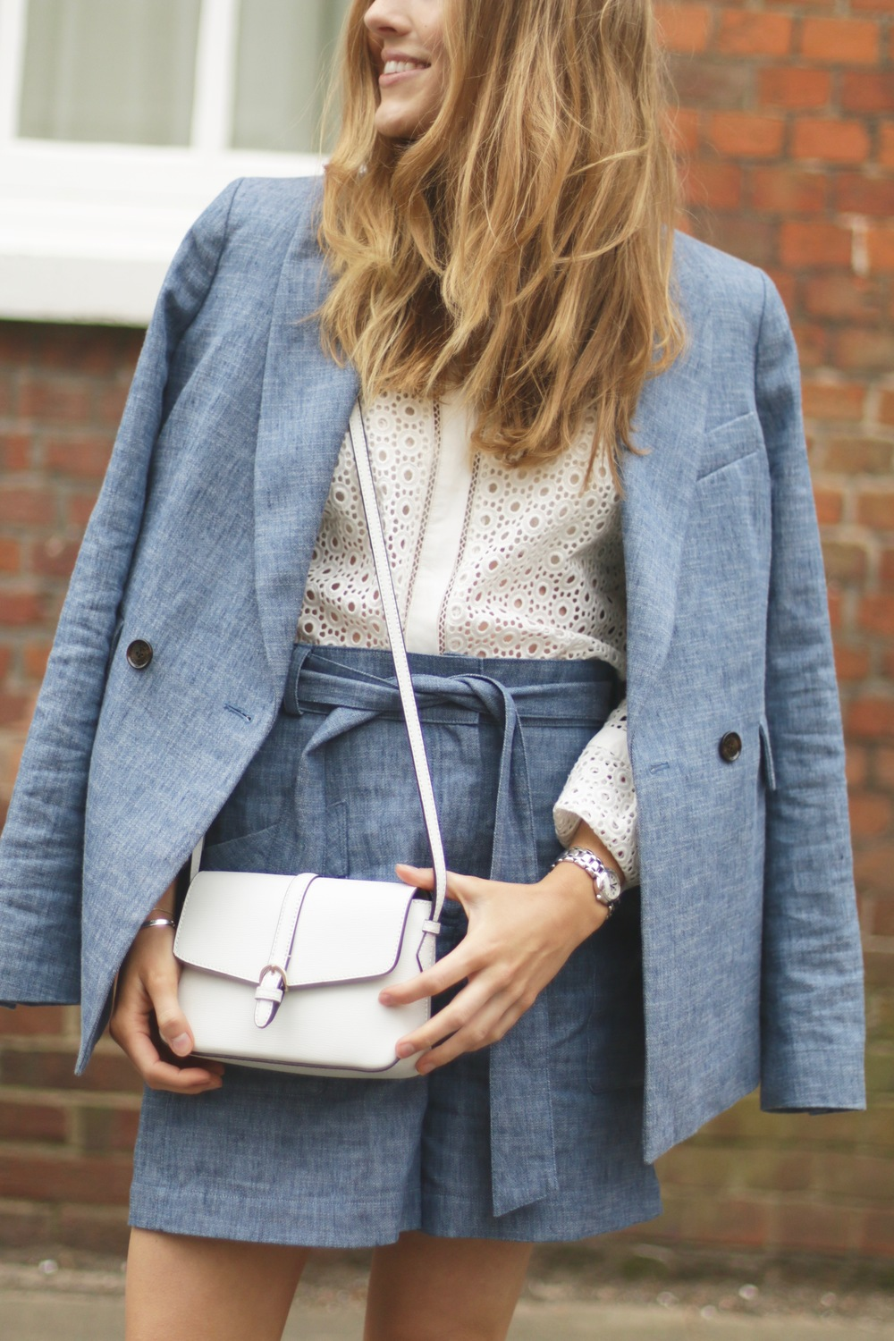 Megan White Mini Crossbody Bag