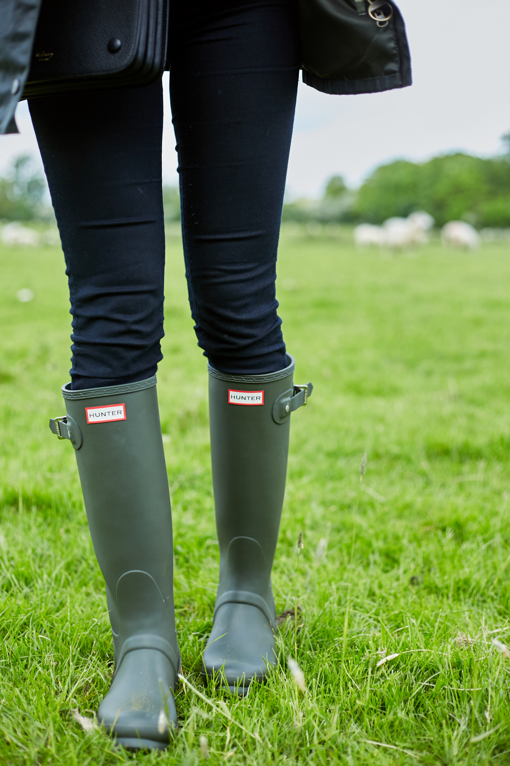 Hunter Tall Wellies (Dark Olive)