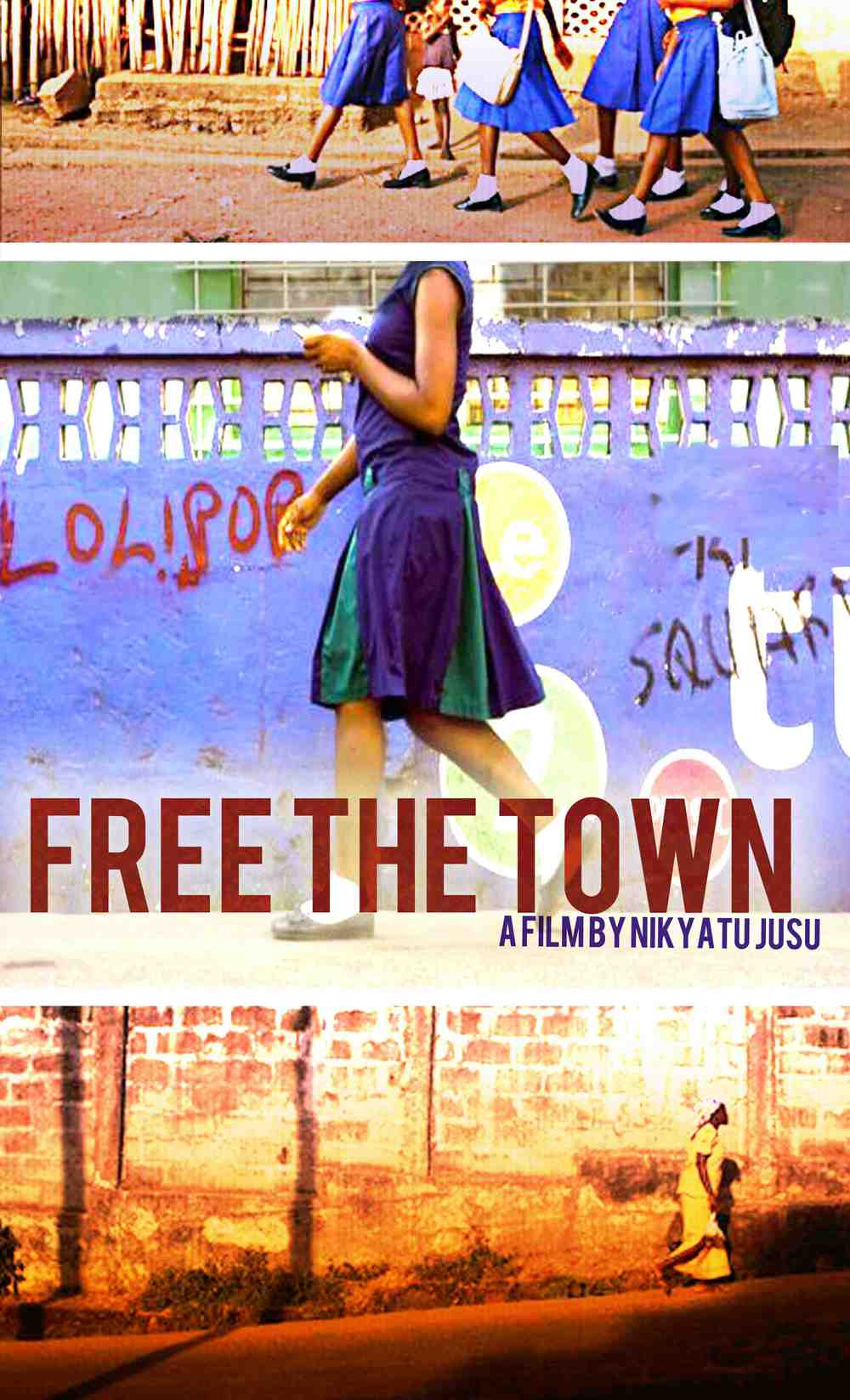 FREE THE TOWN poster art