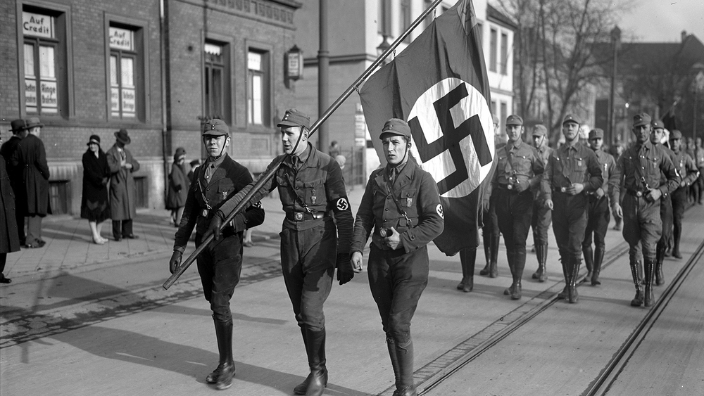 Enthusiastic young Nazis in 1934. What if they controlled the narrative? Image courtesy of Bundearchiv