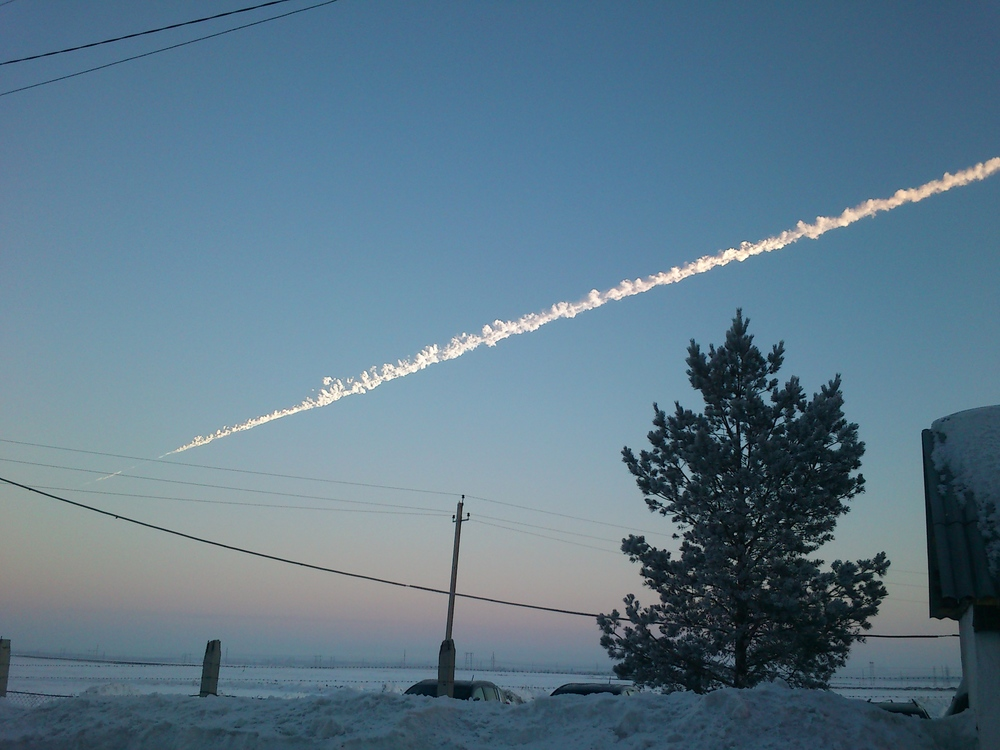 The Chelyabinsk Meteor shown above released 20-30 times more energy than the Hiroshima bomb.