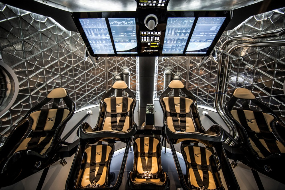 SpaceX was just awarded $2.6 Billion to develop the human-crew rated version of the Dragon spacecraft, shown here.