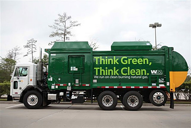Waste Management CNG Garbage Truck