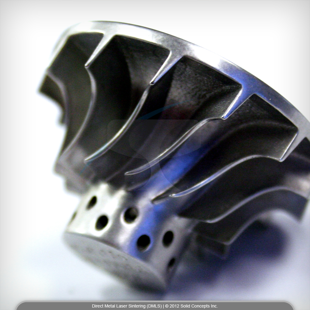 An infinite variety of metal components can now be made using a  3D printer    Image Credit: Solid Concepts