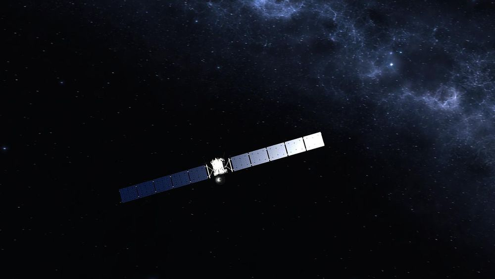 The European Space Agency Rosetta Spacecraft.  Image Credit: European Space Agency and Wikimedia Commons