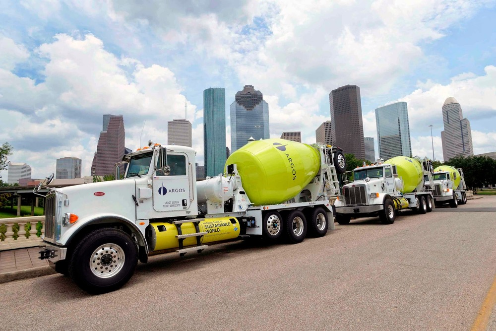 Argos recently took delivery of 40 CNG mixers. Image Credit: Oshkosh Corp.