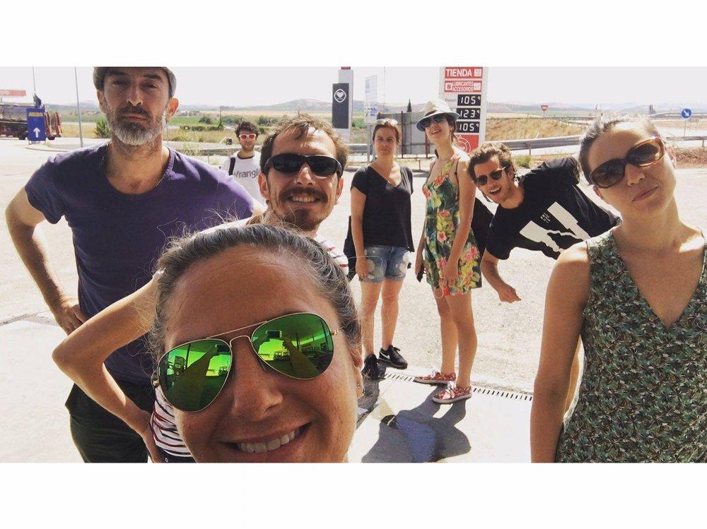 Parada camino al Festival de teatro de Palma del Río 08/07/2016