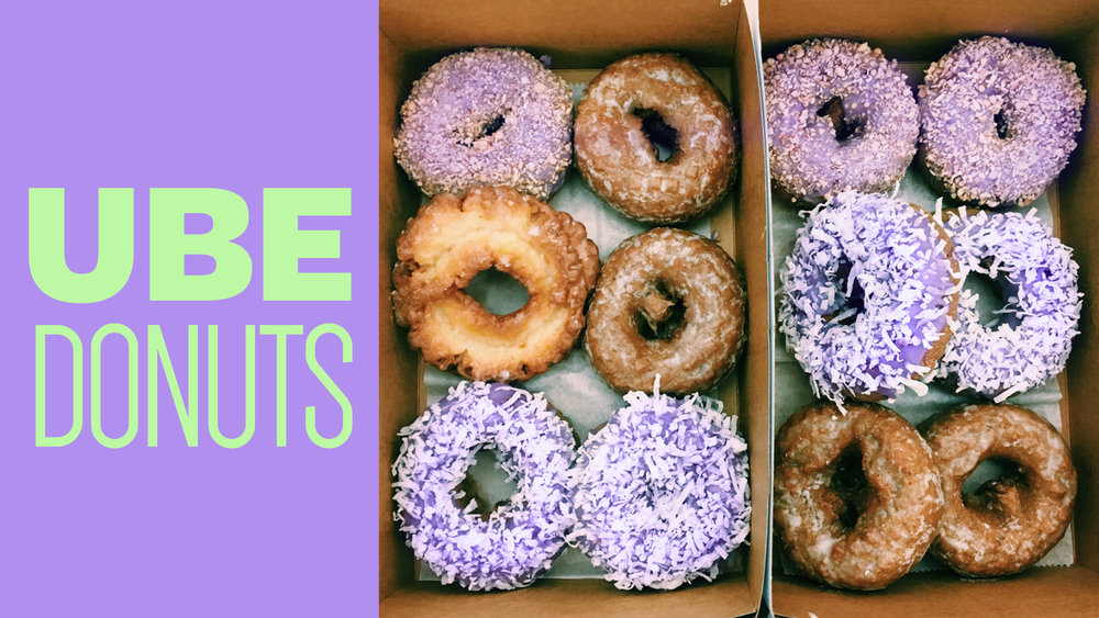 A coworker challenged me: 'If you could write a Facebook status of mine and get more than 80 likes, I'll get you anything you want.' I won, and I requested a dozen Filipino Ube donuts from a very far place in Illinois. Message me to see the post that got her 80+ likes. :)