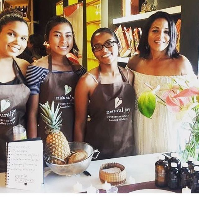 Team Natural Joy Botanicals sporting their brand new aprons @naturaljoybotanicals