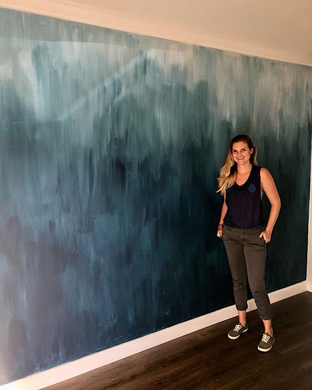 2018 client design work off to a beautiful ombré start. Mural: @ashleythompsonsteuart  Branding & art direction: Everything Slight Pepper©