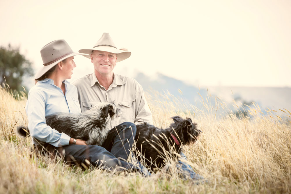 Farm Family - Horses & Dogs - Peter & Sukala - Strathewen
