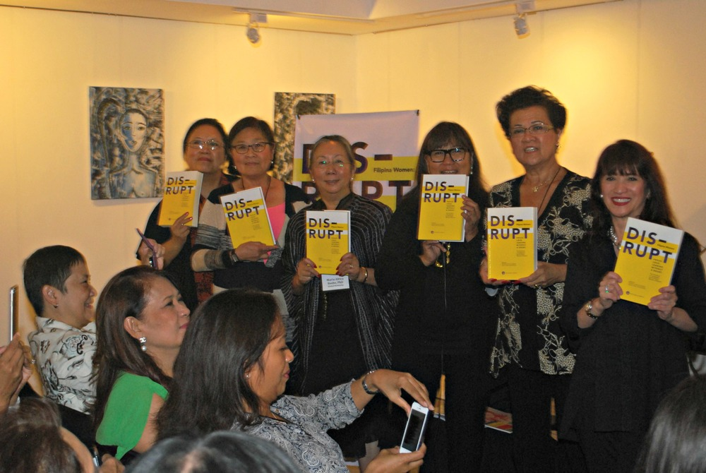 From left: Elena Mangahas, FWN Board Chair; Maya Ong Escudero, Managing Editor, DIS-RUPT; Maria Beebe, Chief Editor, DIS-RUPT; Marily Mondejar, FWN CEO and Founder; Gloria T. Caoile, National Political Director of Asian Pacific American Labor Alliance and FWN Advisory Board Chair; and Delle Sering-Fojas, CEO, 77 Corporate Group (Photo by Jonathan Largadas)