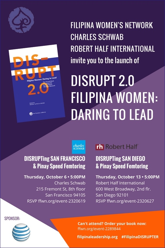 DISRUPT 2.0 Book Launch Flyer- San Diego
