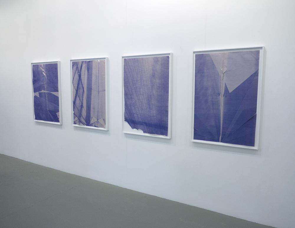 DADIAZOS folded, smashed, and exposed diazo blueprints 2013
