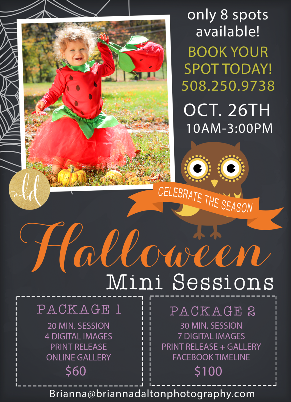 Halloween Mini Sessions  October 1st-October 26th 2014