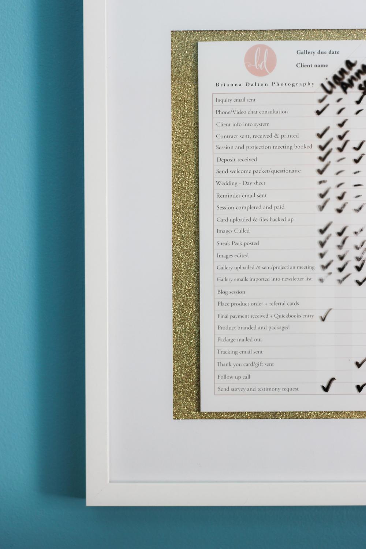 Photographer Workflow Chart