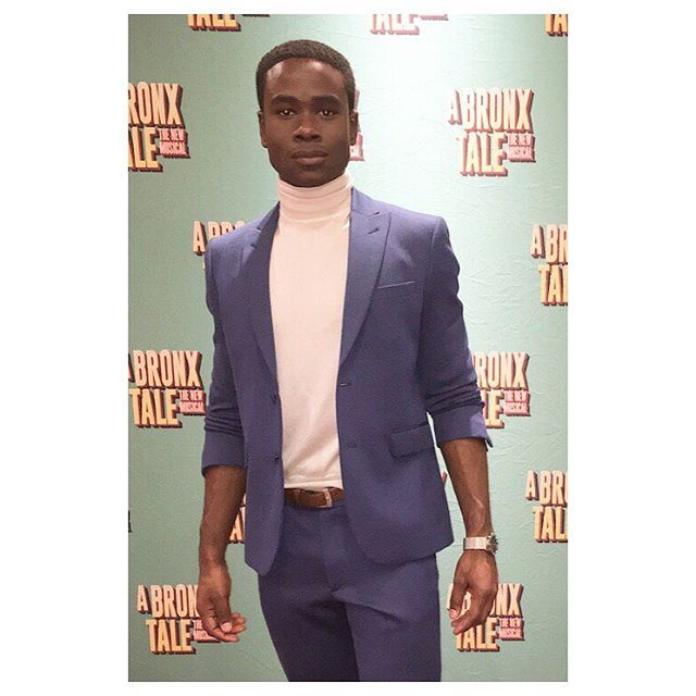 @bradgibson13 slaying in @worldstephenf at @bronxtalemusical opening last night. Δ