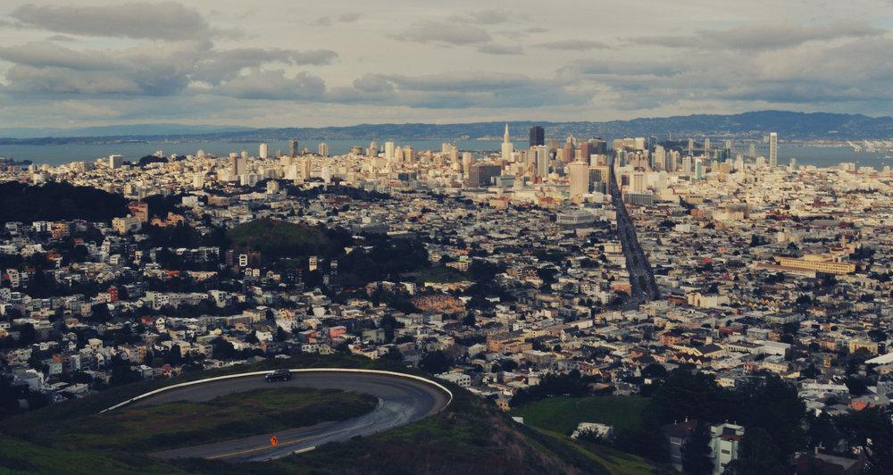 Twin Peaks, San Francisco, California, United States, digital
