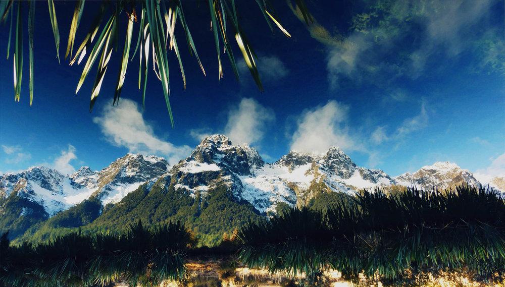 Lake Wakatipu, Glenorchy, Otago, New Zealand, digital